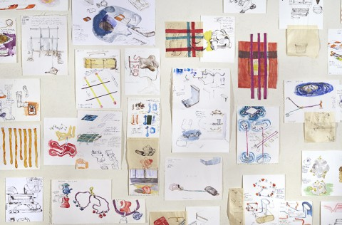 Saché Workday Drawings (detail),| 2004, dimensions variable